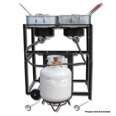 54,000 BTU Dual Outdoor Propane Frying Cart