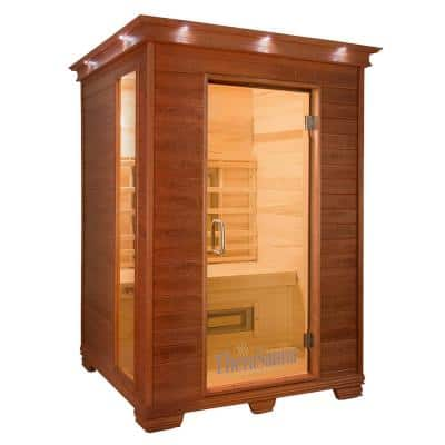 2-Person Plus Infrared Health Sauna with MPS Touchview Control, Aspen Wood and 10 TheraMitter Heaters
