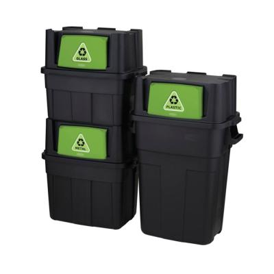 30 Gal., 18 Gal. and 14 Gal. Stackable Indoor Recycling Bundle