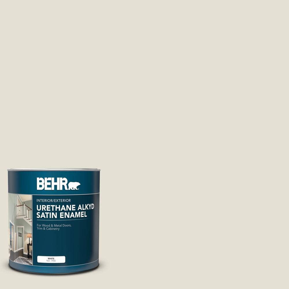 Behr 1 Qt N310 1 Sand Drift Satin Enamel Urethane Alkyd Interior Exterior Paint 790004 The Home Depot