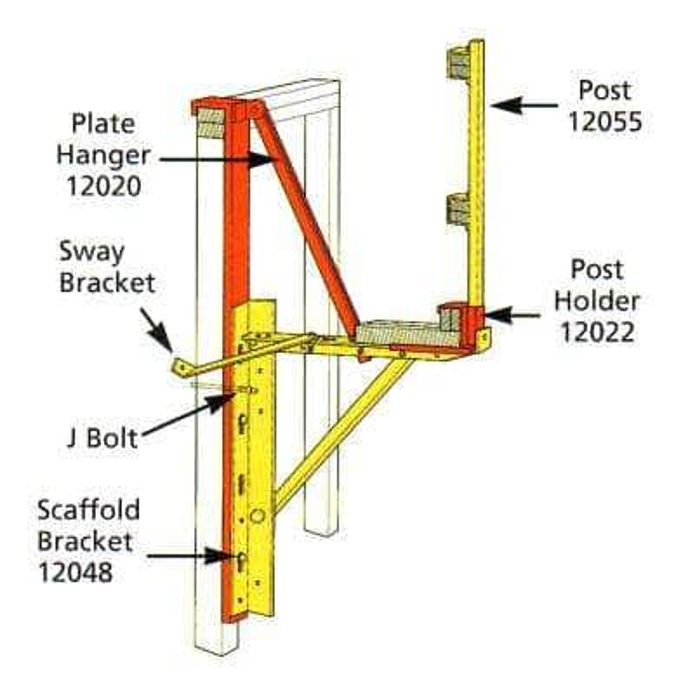 Steel Wall Scaffold Over Plate Hanger for Bracket