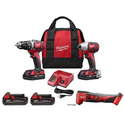 M18 18-Volt Lithium-Ion Cordless Drill Driver/Impact Driver Combo Kit (2-Tool) with Multi-Tool and (2) 2.0 Ah Batteries