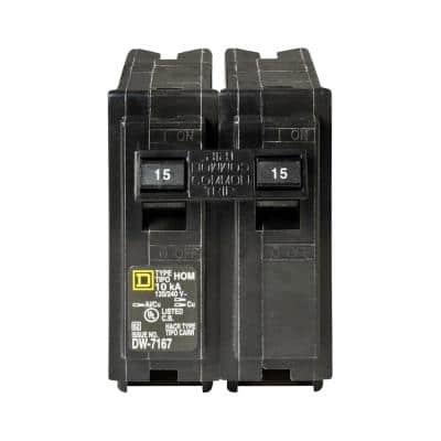 Homeline 15 Amp 2-Pole Circuit Breaker (3-Pack)