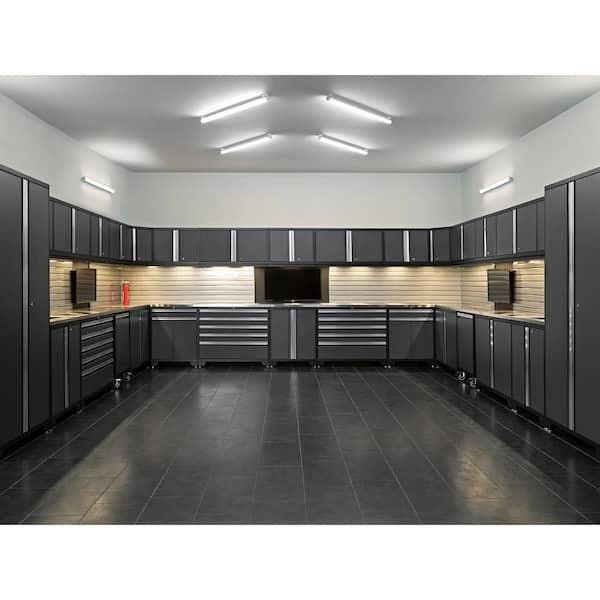 Gauge Steel Garage Cabinet Set In Gray, Newage Garage Cabinets Reviews