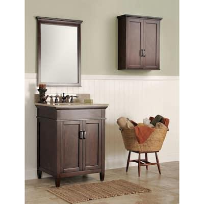 Ashburn 24 in. W Bath Vanity Cabinet Only in Mahogany