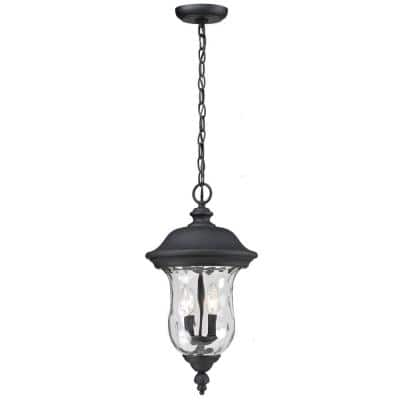 Lawrence Black 2-Light Incandescent Outdoor Hanging Pendant