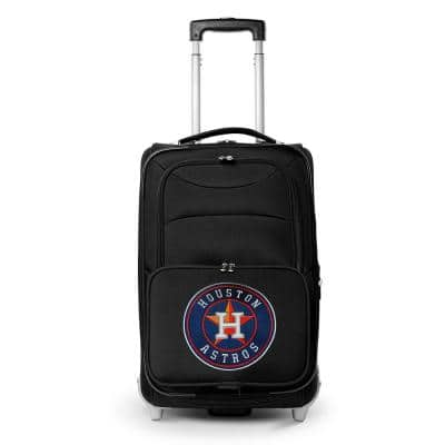 MLB Houston Astros  21 in. Black Carry-On Rolling Softside Suitcase