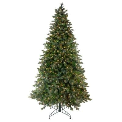 108 in. Pre-Lit Savannah Spruce Artificial Christmas Tree with Clear Lights