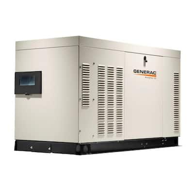 22,000-Watt 120-Volt/240-Volt Liquid Cooled Standby Generator Single Phase with Aluminum Enclosure