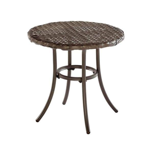 Stylewell 18 In Mix And Match Brown, Metal Patio End Tables