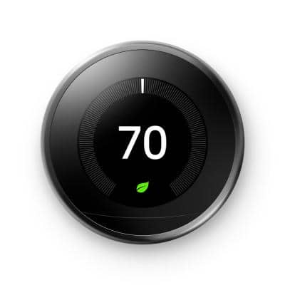 Nest Learning Thermostat - Smart Wi-Fi Thermostat - Mirror Black