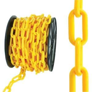 #8 x 50 ft. Plastic Chain, Yellow