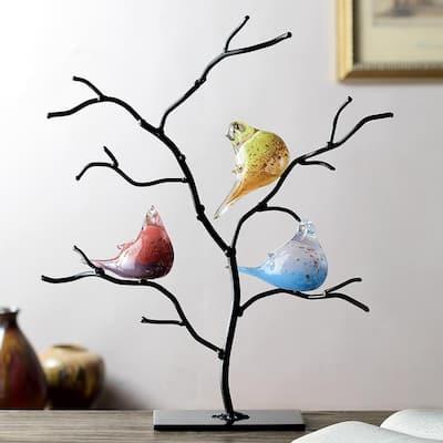 AG Bird Trio on Tree Decorative Figurine
