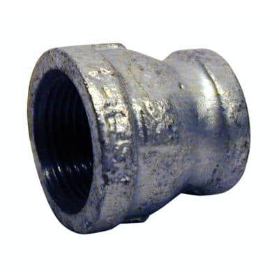 1-1/2 in. x 3/4 in. Galvanized Malleable Iron FPT x FPT Reducing Coupling