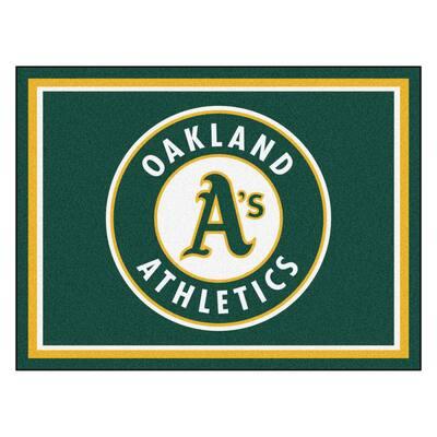 MLB Oakland Athletics Green 8 ft. x 10 ft. Indoor Area Rug