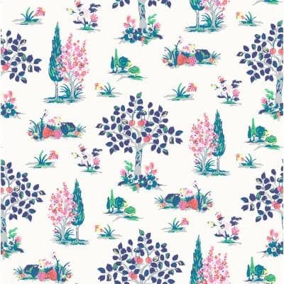 Blue Charming Grove Peel and Stick Wallpaper
