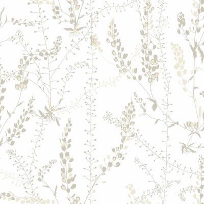 Bladranker Beige Botanical Beige Wallpaper Sample