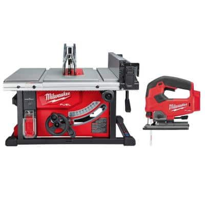 M18 FUEL ONE-KEY 18-Volt Lithium-Ion Brushless Cordless 8-1/4 in. Table Saw W/ Jig Saw (Tool-Only)