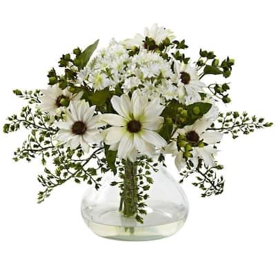 Mixed Daisy Arrangement with Vase