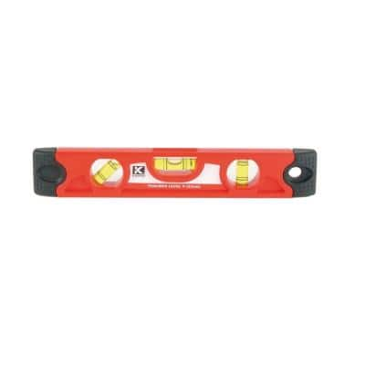 9 in. Magnetic Tool Box Level with Rubber End Caps