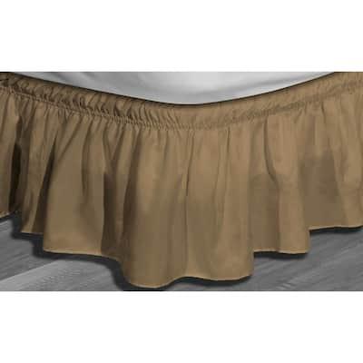 Waldorf Queen/King Microfiber Bed Ruffle Skirt in Mocha