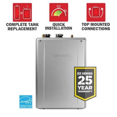 EZTR50 9.8 GPM 50 Gal. Tank Replacement High Efficiency Indoor Residential Natural Gas Tankless Water Heater Kit