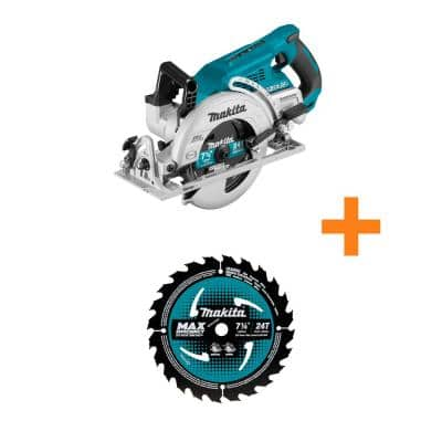 18-Volt X2 LXT (36-Volt) Brushless Cordless Rear Handle 7.25 in. Circular Saw (Tool-Only) with Bonus 7.25 in. Saw Blade