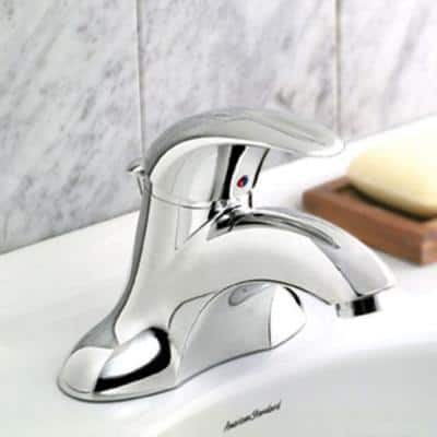 Reliant 4 in. Centerset Single-Handle Low Arc Bathroom Faucet with Speed Connect Drain in Chrome