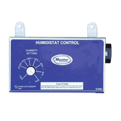 Manually Adjustable Humidistat for Power Vents
