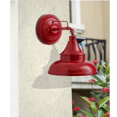 Colonial Red Outdoor Barn Light Wall Mount Sconce