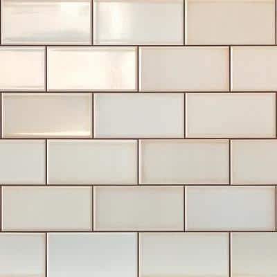 Magnitude White 4 in. x 8 in. x 7.5mm Polished Ceramic Subway Wall Tile (68 pieces / 14.63 sq. ft. / box)