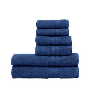 Spunloft 6-Piece Navy Solid Cotton Towel Set