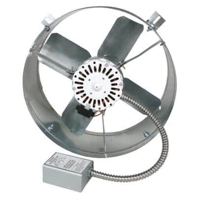 1650 CFM Mill Electric Powered Gable Mount Electric Attic Fan