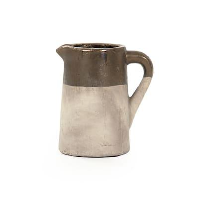 Ceramic Gilded Top w/Handle Decorative Vase