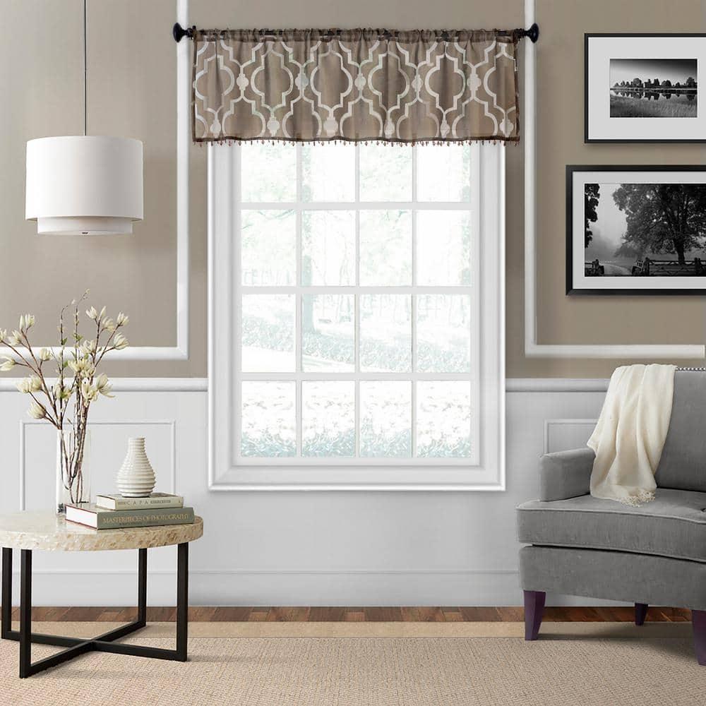 Elrene Montego Sheer Beaded Window, Living Room Valances