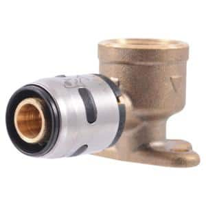 1/2 in. Push-to-Connect EVOPEX Brass 90-Degree Drop Ear Elbow Fitting