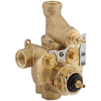 MasterShower 3/4 in. Thermostatic Valve with Integral Volume Control and Stops