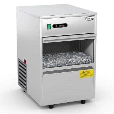 15 in W. 58 lbs. Portable Freestanding Ice Maker in White Commercial Home Use