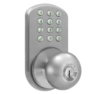 Keyless Satin Nickel Entry Door Knob