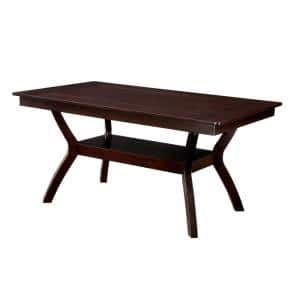 Brent 64 in. Rectangle Brown Wood Seats 6 # Capacity