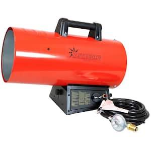 125,000 BTU Forced Air Propane Space Heater with Overheat Auto-Shutoff