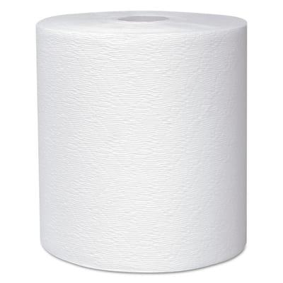 "Essential Plus Hard Roll Towels 1 3/4"" Core White 8"" x 600 ft (6 Rolls per Carton)"