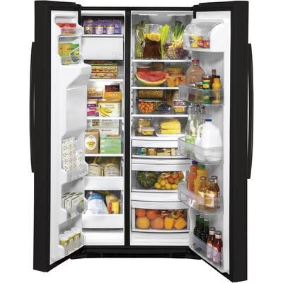 25.1 cu. ft. Side by Side Refrigerator in Black