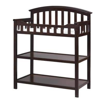 Espresso Wood Changing Table