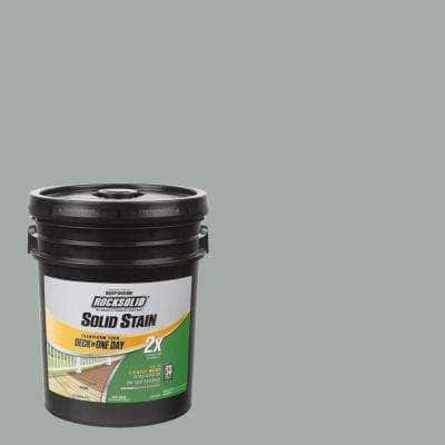 5 gal. Gainsboro Exterior 2X Solid Stain