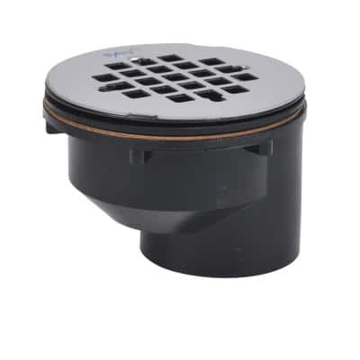 2 in. ABS Offset Shower Drain