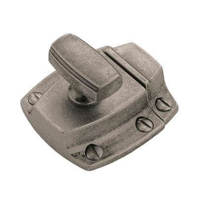 Highland Ridge 1-3/16 in (30 mm) Center-to-Center Aged Pewter Cabinet Door Latch