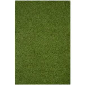 Vista Green 4 ft. x 6 ft. Solid Indoor/Outdoor Area Rug