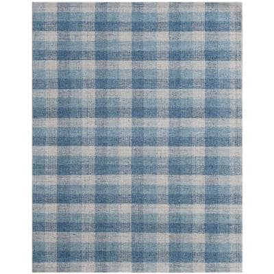 Plaid 8 X 10 Wool Area Rugs Rugs The Home Depot