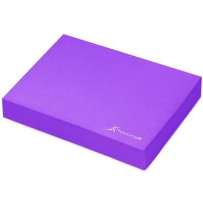 Purple 15.5 in. L x 12.5 in. W x 2.5 in. T Exercise Balance Pad, Non-Slip Cushioned Foam Mat and Knee Pad (1.35 sq. ft.)